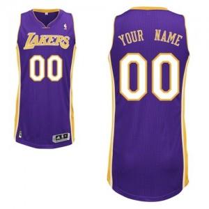 Los Angeles Lakers Personnalisé Adidas Road Violet Maillot d'équipe de NBA pas cher - Authentic pour Homme