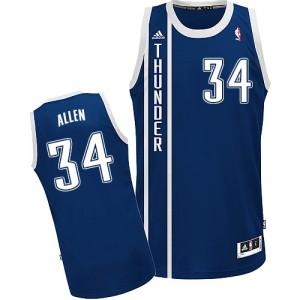Oklahoma City Thunder #34 Adidas Alternate Bleu marin Swingman Maillot d'équipe de NBA la meilleure qualité - Ray Allen pour Homme