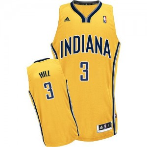 Maillot NBA Or George Hill #3 Indiana Pacers Alternate Swingman Homme Adidas