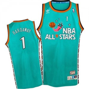 Maillot NBA Orlando Magic #1 Penny Hardaway Bleu clair Mitchell and Ness Authentic 1996 All Star Throwback - Homme