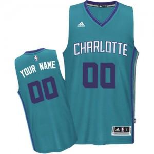 Maillot NBA Authentic Personnalisé Charlotte Hornets Road Bleu clair - Homme