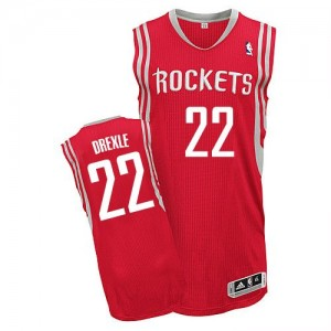 Maillot Authentic Houston Rockets NBA Road Rouge - #22 Clyde Drexler - Homme