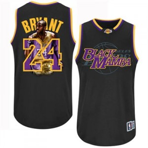Maillot Adidas Noir Notorious Authentic Los Angeles Lakers - Kobe Bryant #24 - Homme