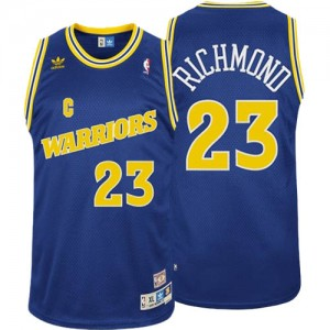 Maillot Adidas Bleu Throwback Swingman Golden State Warriors - Mitch Richmond #23 - Homme