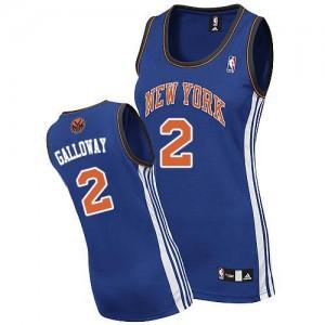 New York Knicks #2 Adidas Road Bleu royal Authentic Maillot d'équipe de NBA en ligne pas chers - Langston Galloway pour Femme