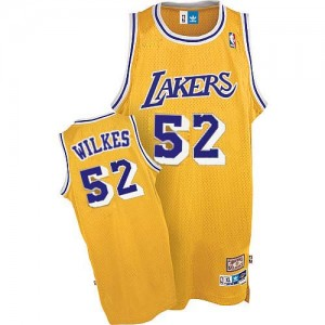 Los Angeles Lakers #52 Adidas Throwback Or Authentic Maillot d'équipe de NBA en ligne pas chers - Jamaal Wilkes pour Homme