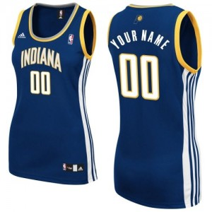 Indiana Pacers Personnalisé Adidas Road Bleu marin Maillot d'équipe de NBA Braderie - Swingman pour Femme