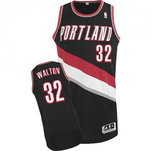 Maillot Authentic Portland Trail Blazers NBA Road Noir - #32 Bill Walton - Homme