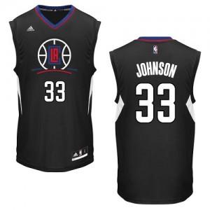 Maillot NBA Noir Wesley Johnson #33 Los Angeles Clippers Alternate Swingman Homme Adidas