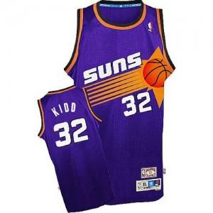 Maillot NBA Violet Jason Kidd #32 Phoenix Suns Throwback Authentic Homme Adidas