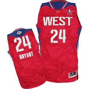 Los Angeles Lakers Kobe Bryant #24 2013 All Star Authentic Maillot d'équipe de NBA - Rouge pour Homme