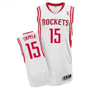 Maillot Authentic Houston Rockets NBA Home Blanc - #15 Clint Capela - Homme