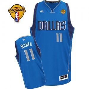 Maillot Adidas Bleu royal Road Finals Patch Swingman Dallas Mavericks - Jose Barea #11 - Homme