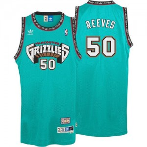Maillot Adidas Vert Hardwood Classics Throwback Swingman Memphis Grizzlies - Bryant Reeves #50 - Homme