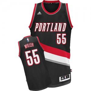 Portland Trail Blazers Mike Miller #55 Road Swingman Maillot d'équipe de NBA - Noir pour Homme