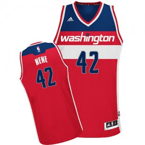 Maillot Adidas Rouge Road Swingman Washington Wizards - Nene #42 - Homme
