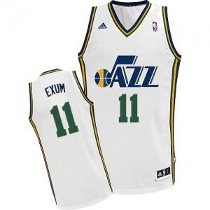 Maillot NBA Utah Jazz #11 Dante Exum Blanc Adidas Swingman Home - Homme