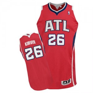 Atlanta Hawks #26 Adidas Alternate Rouge Authentic Maillot d'équipe de NBA 100% authentique - Kyle Korver pour Homme