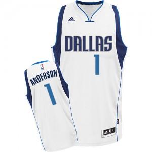 Maillot Adidas Blanc Home Swingman Dallas Mavericks - Justin Anderson #1 - Homme
