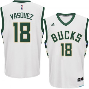 Maillot NBA Authentic Greivis Vasquez #18 Milwaukee Bucks Home Blanc - Homme