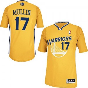Maillot Adidas Or Alternate Authentic Golden State Warriors - Chris Mullin #17 - Homme