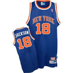 Maillot Authentic New York Knicks NBA Throwback Bleu royal - #18 Phil Jackson - Homme