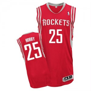 Maillot NBA Houston Rockets #25 Robert Horry Rouge Adidas Authentic Road - Homme