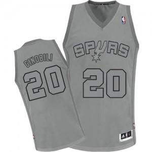 Maillot NBA Authentic Manu Ginobili #20 San Antonio Spurs Big Color Fashion Gris - Homme