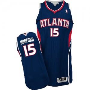 Atlanta Hawks #15 Adidas Road Bleu marin Authentic Maillot d'équipe de NBA pour pas cher - Al Horford pour Homme