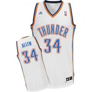 Oklahoma City Thunder #34 Adidas Home Blanc Swingman Maillot d'équipe de NBA vente en ligne - Ray Allen pour Homme