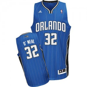 Maillot NBA Bleu royal Shaquille O'Neal #32 Orlando Magic Road Swingman Enfants Adidas