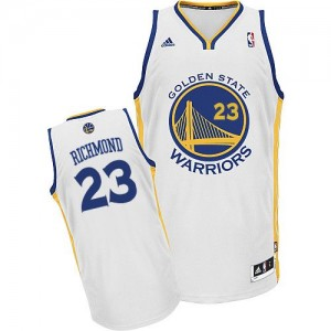 Maillot Adidas Blanc Home Swingman Golden State Warriors - Mitch Richmond #23 - Homme