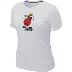 T-Shirts NBA Miami Heat Big & Tall Blanc - Femme
