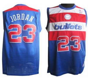 Maillot Nike Bleu Throwback Authentic Washington Wizards - Michael Jordan #23 - Homme