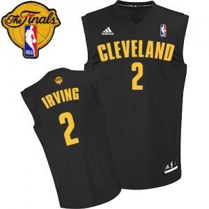 Cleveland Cavaliers Kyrie Irving #2 Fashion 2015 The Finals Patch Authentic Maillot d'équipe de NBA - Noir pour Homme