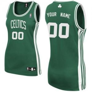 Boston Celtics Authentic Personnalisé Road Maillot d'équipe de NBA - Vert (No Blanc) pour Femme
