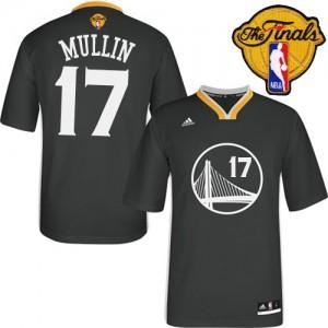 Golden State Warriors Chris Mullin #17 Alternate 2015 The Finals Patch Swingman Maillot d'équipe de NBA - Noir pour Homme