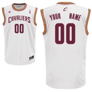 Maillot NBA Cleveland Cavaliers Personnalisé Swingman Blanc Adidas Home - Enfants