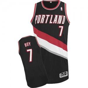 Maillot Authentic Portland Trail Blazers NBA Road Noir - #7 Brandon Roy - Homme