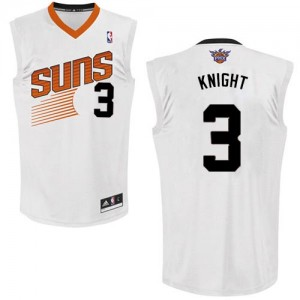 Maillot NBA Authentic Brandon Knight #3 Phoenix Suns Home Blanc - Homme