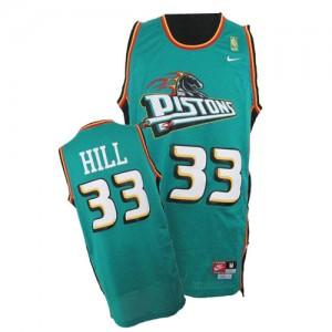 Maillot Nike Vert Throwback Swingman Detroit Pistons - Grant Hill #33 - Homme