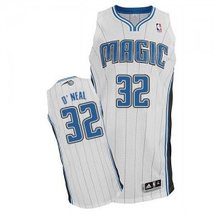 Maillot NBA Blanc Shaquille O'Neal #32 Orlando Magic Home Authentic Homme Adidas