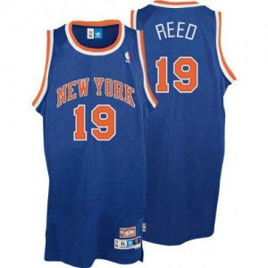 Maillot Adidas Bleu royal Throwback Authentic New York Knicks - Willis Reed #19 - Homme