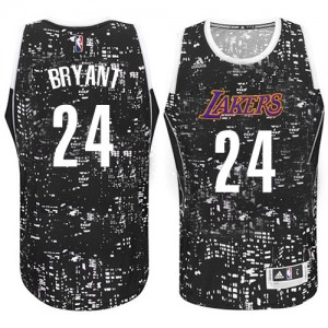 Maillot Adidas Noir City Light Authentic Los Angeles Lakers - Kobe Bryant #24 - Homme