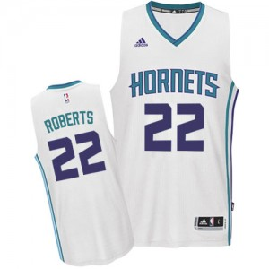 Maillot Adidas Blanc Home Authentic Charlotte Hornets - Brian Roberts #22 - Homme