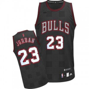 Maillot Adidas Noir Rhythm Fashion Authentic Chicago Bulls - Michael Jordan #23 - Homme