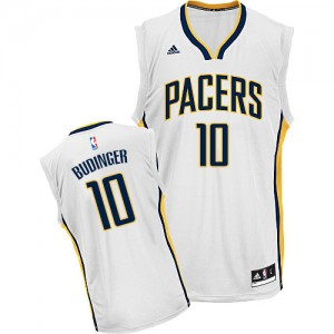 Maillot NBA Blanc Chase Budinger #10 Indiana Pacers Home Swingman Homme Adidas