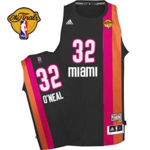 Miami Heat Shaquille O'Neal #32 ABA Hardwood Classic Finals Patch Swingman Maillot d'équipe de NBA - Noir pour Homme
