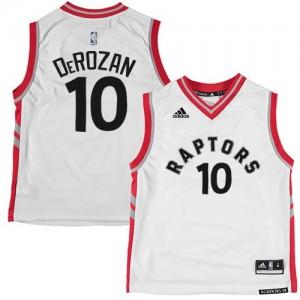 Maillot Adidas Blanc Authentic Toronto Raptors - DeMar DeRozan #10 - Homme