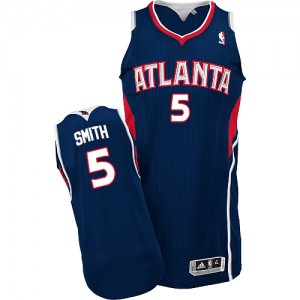 Atlanta Hawks #5 Adidas Road Bleu marin Authentic Maillot d'équipe de NBA la meilleure qualité - Josh Smith pour Homme